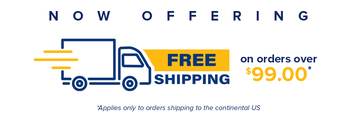 *Offer Available on NON-Custom Items and Orders shipping within the Continental USA