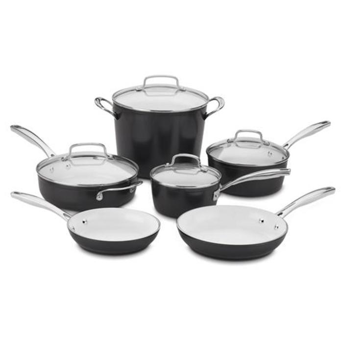 Cuisinart 10 Piece Induction Non Stick Ceramic Cookware