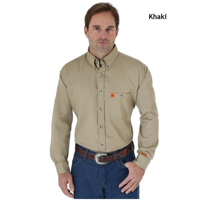398de543 Wrangler FR3W10 RIGGS Workwear Flame Resistant Solid Shirt ...
