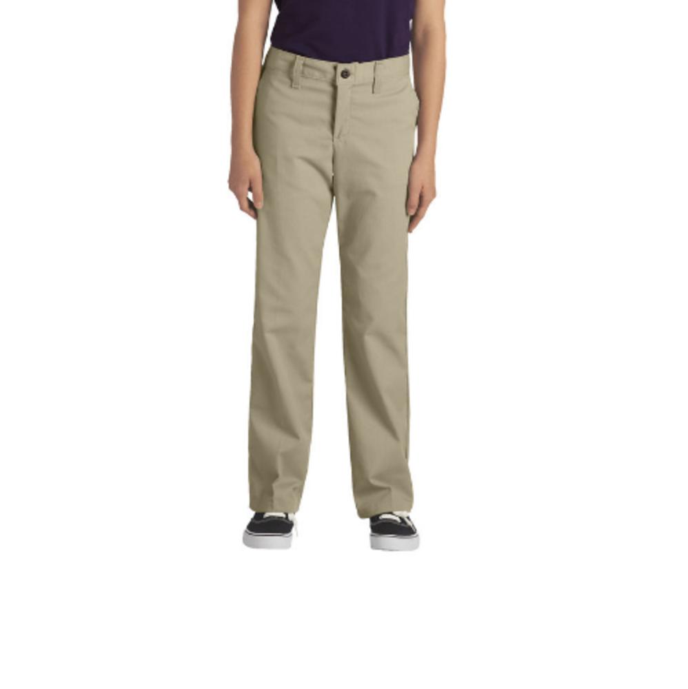 510ebf30392 Dickies Girls  FlexWaist® Classic Fit Straight Leg Stretch Twill Pants   KP5518
