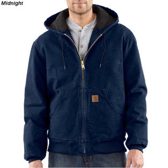 Carhartt J130 Sandstone Active Jac Quilted Flannel Lined